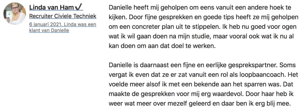 Danielle Bax loopbaancoach loopbaancoaching Veldhoven Eindhoven Valkenswaard Weert