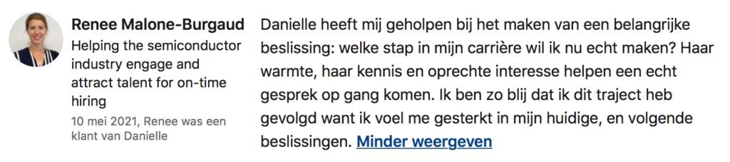Danielle Bax loopbaancoach Veldhoven Eindhoven Valkenswaard Weert